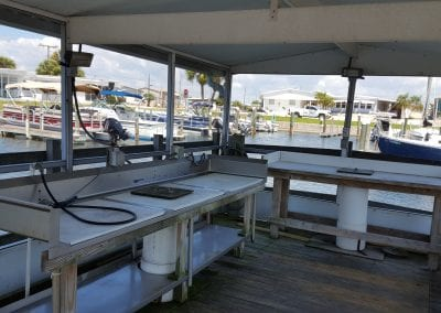 Marina Fish Cleaning Area